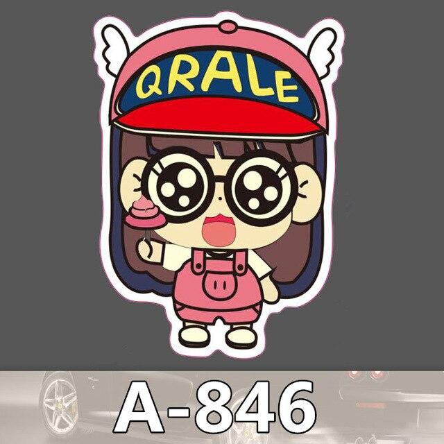 10Pcs ARALE A-846 waterproof car stickers skateboard trolley cartoon  stickers graffiti Children Kid Adult