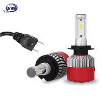 H7 Led Car Styling Light LED Headlight Kits Car Bulbs Single Beam 9600LM Pair 6500K Auto