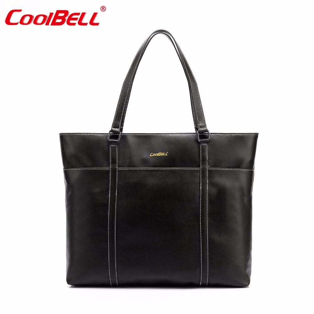 CoolBell Women 15.6 Inch Tote Bag Top-handle Bag Laptop Case Handbag Leather Briefcase Classic Shoulder Bag coolbell fashion women tote bag 15 6 inch laptop handbag nylon briefcase classic laptop bag shoulder bag top handle bag