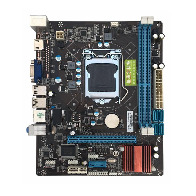 New 215*170mm H61 LGA 1155 Motherboard 2xDDR3 4xSATA2.0 Computer Motherboard Mainboard For Inter Core 2 3 Support VGA HDMI colorful c h61u v27 quad core computer i small colorful h61 motherboard