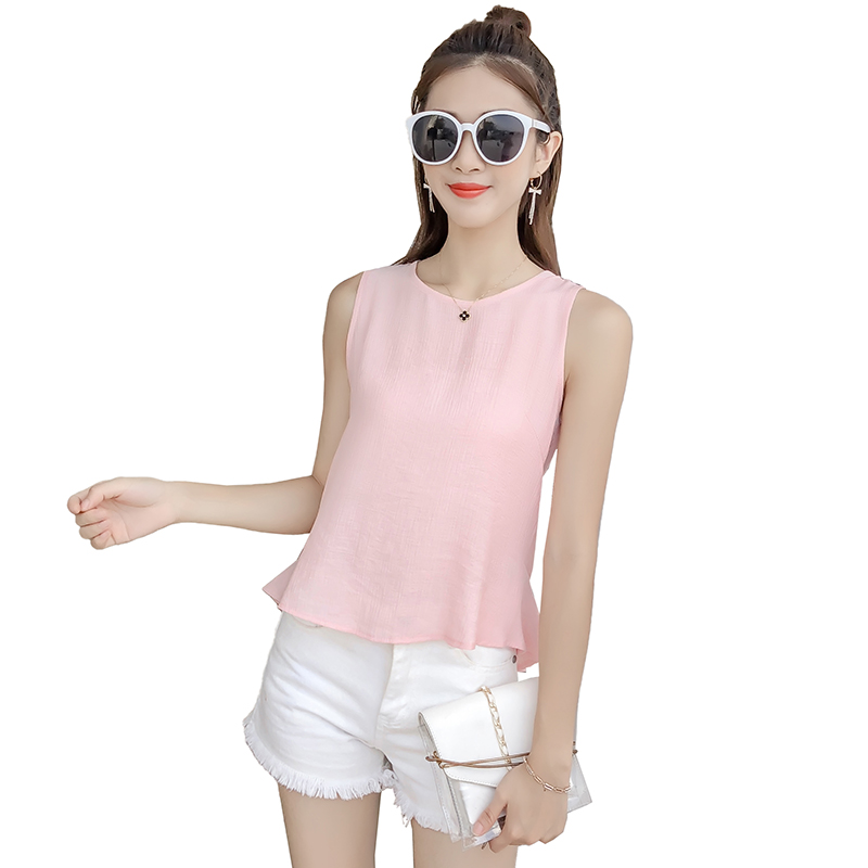 Shop Pink Emilio Pucci Pussy Bow Sleeveless Blouse With Express Delivery
