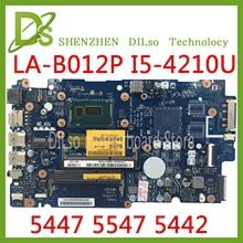 KEFU LA-B012P motherboard For Dell Inspiron  5447 5547 5442 laptop motherboard LA-B012P REV:1.0 i5-4210u/I5-4200U Test цена и фото