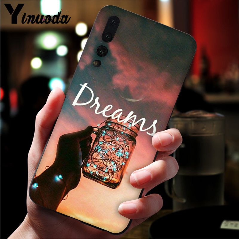 Image 5 - Yinuoda Far mountain sea hot air balloon and light printing Black Phone Case for Huawei Mate10 Lite P20 Pro P10 Plus Honor 9 10-in Half-wrapped Cases from Cellphones & Telecommunications