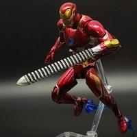 SHF Avengers: Infinity War IronMan 3 Armor MK50 Ironman VS Thanos Marvel Action Figure Spiderman Toy Model 16cm