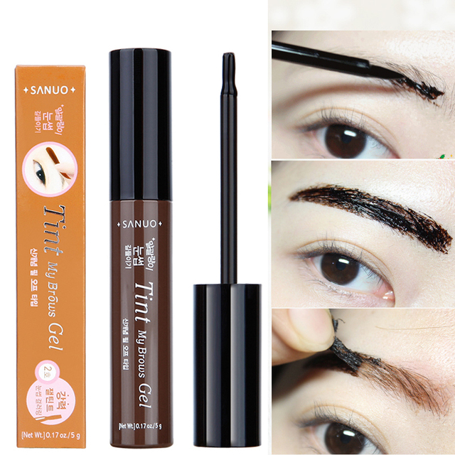 3 Colors Natural Long Lasting Waterproof L Off Henna Eyebrow Gel Brown Color Make Up Eye