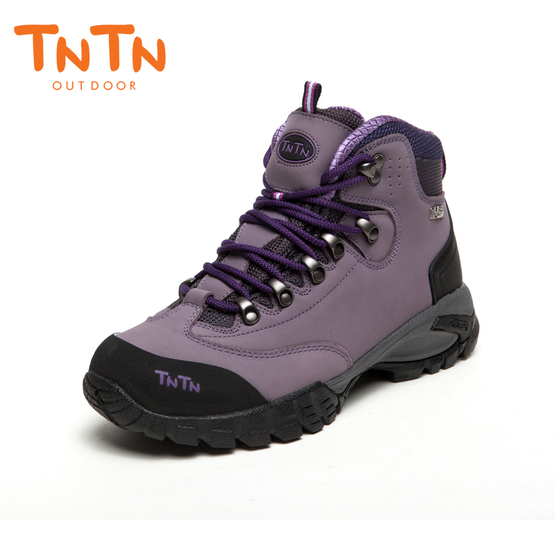 Womens Hiking Shoes Waterproof Cowleather Trekking Climbing Trail Athletic Sports Mountain 100% High Quality Leisure