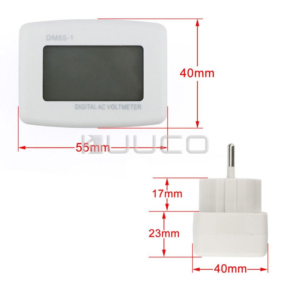 LCD voltmérő AC 80 ~ 300 V feszültségmérő AC 110 V / 220 V - Mérőműszerek - Fénykép 6