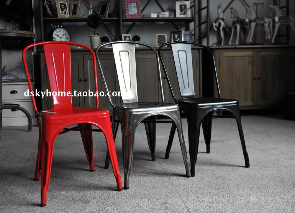 Awesome American Country French Style Loft Industrial Metal Chairs Squirreltailoven Fun Painted Chair Ideas Images Squirreltailovenorg
