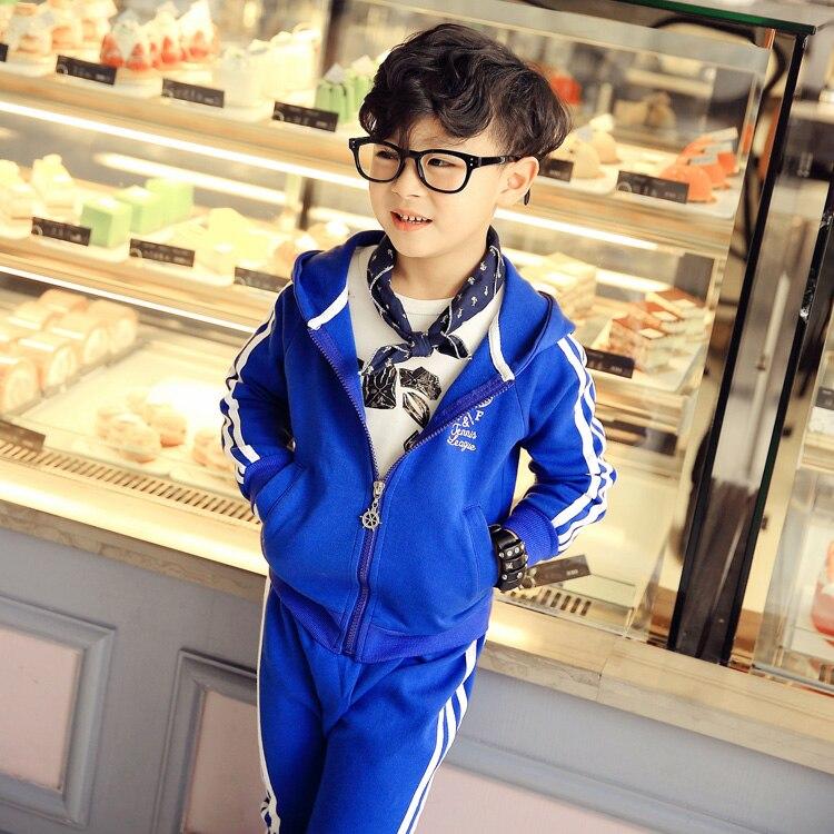 2016 spring new in boys child sports sweatshirt set male children fashion sports suit