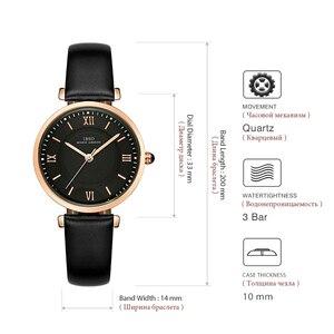 Image 4 - IBSO nowy marka kobiety zegarki 2020 zielony prawdziwy skórzany pasek Reloj Mujer luksusowe panie zegarek kwarcowy kobiety Montre Femme