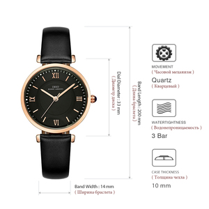 Image 4 - IBSO relojes de marca para Mujer, correa de cuero genuino 2020 verde, de cuarzo de lujo, femenino