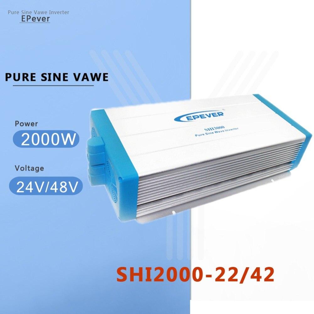 Onduleur à onde sinusoïdale Pure EPever 2000 W 24 V/48 V DC convertir en 220 V ~ 230 V AC convertisseur de tension Intelligent prise universelle pour la maison