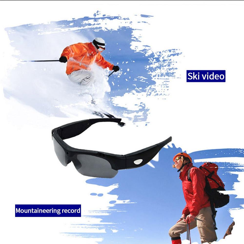 2018 HD 1080P 16GB 32GB Camera Smart Glasses Black Orange Polarized Lens Sunglasses Camera Action Sport