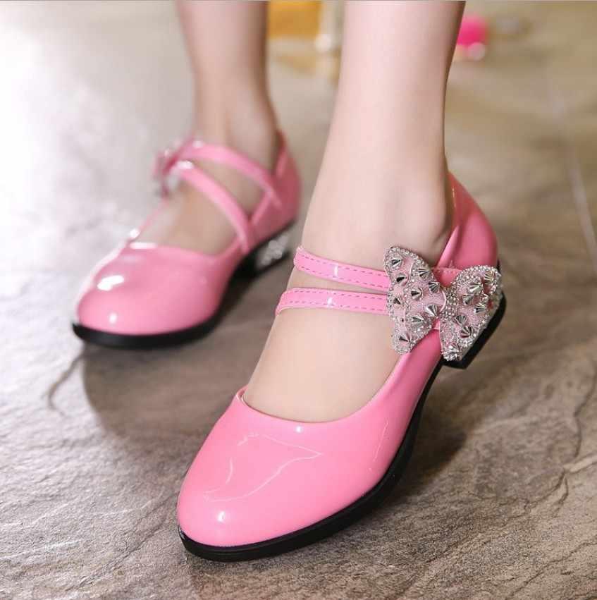 ... Slyxsh 2017 обувь с красным кожаные туфли для девочек партии красный  детская обувь для вечеринок принцессы d24174ed077cc