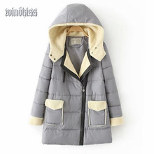 Women Winter Parkas Coat Plush 2016 Fashion Casual Winter Down Jacket Coat Women Fur Collar Parka