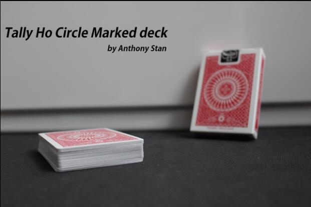 Tally Ho Circle Marked Deck By Anthony Stan-magic Tricks