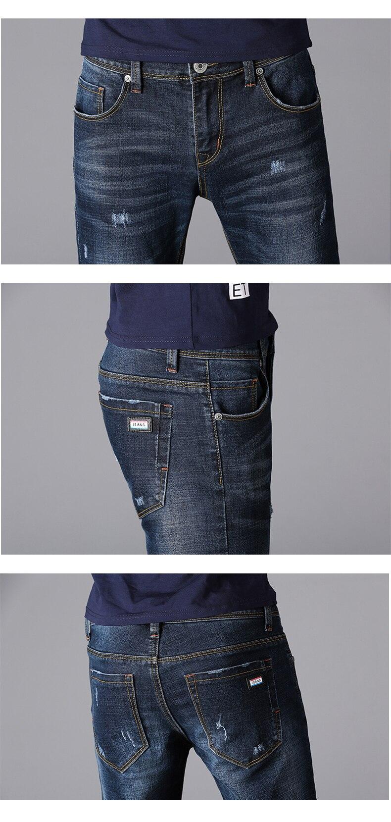 KSTUN Men Clothes 2018 Black Jeans Blue Spring Autumn Business Casual Slim Fit Elasticity Denim