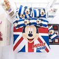 4 Pçs/sets Queen Size Mickey Mouse Dos Desenhos Animados Do Bebê Crianças Conjunto de Cama Incluem Crianças Quilt Cover Folha de Cama Fronha