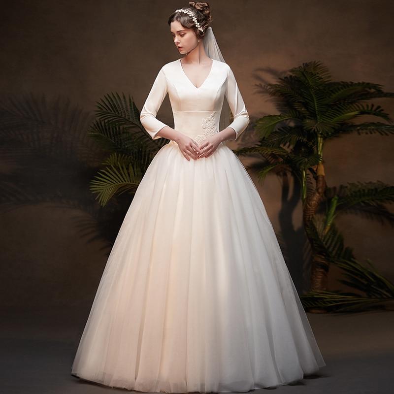 Elegent Wedding Dresses 2019 Royal Floor Length French