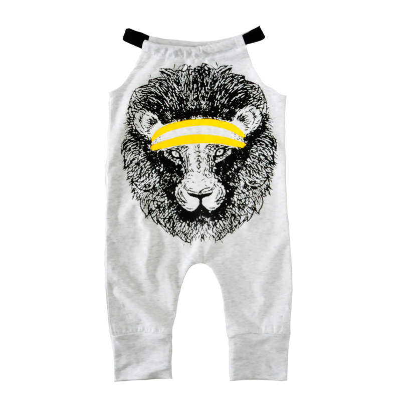 Moonlight Baby Romper Jumpsuit Cartoon Animal Boy Girl Rompers New 2017 Summer Cute Lion Halter Newborn One Pieces Kids Clothes baby clothing summer infant newborn baby romper short sleeve girl boys jumpsuit new born baby clothes