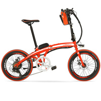 QF600 Portable 20 Inches Folding E Bike ,Aluminum Alloy Frame Electric Bicycle,240 Watts Motor, Both Disc Brakes
