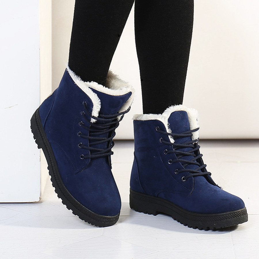 Snow boots 2016 fashion warm ankle boots women winter shoes plus size 35 42