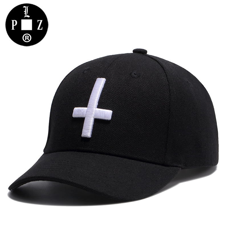 PLZ HIP-HOP Baseball Cap Men 3D Cross Embroidered Cap Unisex Black Bandanna Print Sun Hats For Women Adjustable 56-60CM Cotton feitong summer baseball cap for men women embroidered mesh hats gorras hombre hats casual hip hop caps dad casquette trucker hat