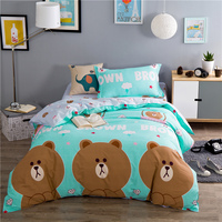 Entrega gratuita! 2016 nueva 100% algodón conjuntos de ropa de cama, 3 sets, los niños juegos de cama, hojas, fundas de edredón cama individual Twinsize