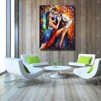 Абстрактные современные ручной росписью сексуальный мужчина и Для женщин танец картина маслом на холсте стены Книги по искусству Домашний ...