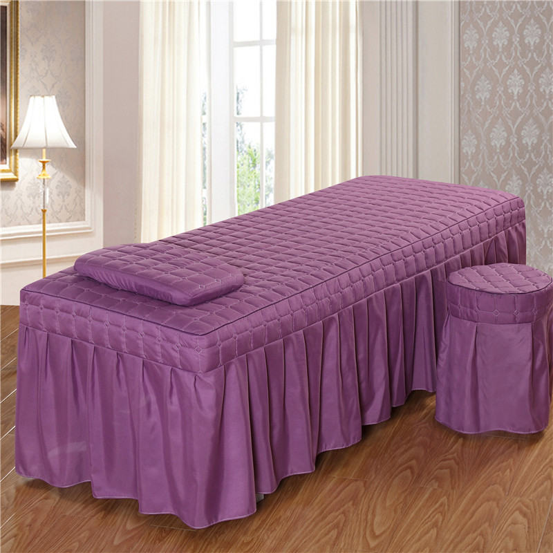 1PC Brief Beauty Bed Skirt Beauty Salon Bedspread With Hole Purple Polyester/cotton 5 Size 11 Color Options #s