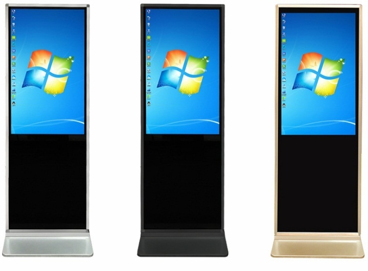 Floor Standing Kiosk Touch 3cm Ultrathin Advertising Player 32 42 43 47 49 50 Inch LCD Touch Screen Digital Signage