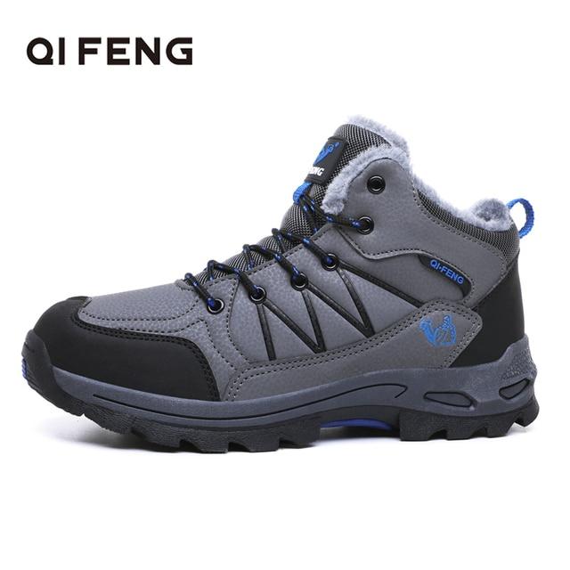 Autumn Winter Men Women Outdoor Sports Hiking Boots Snow Shoes Classic Warm Fluff Casual Footwear Rock Mountain Climbing Sneaker