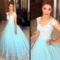 Mint Green Lace Quinceanera Dresses Ball Gown Tulle Prom Debutante Sixteen Sweet 16 Dress vestidos de 15 anos