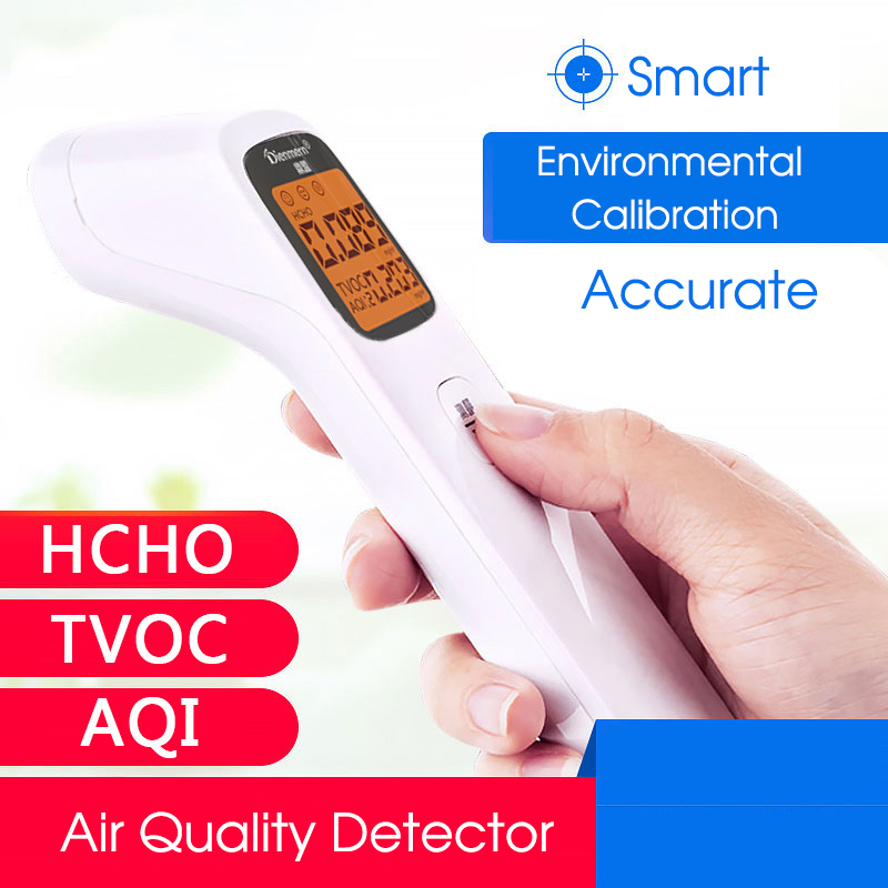 Formaldehyde HCHO Monitor TVOC AQI Digital Gas Detector with Alarm Air Quality Analyzer Professional Household Protection air quality monitor formaldehyde tvoc detector with digital display