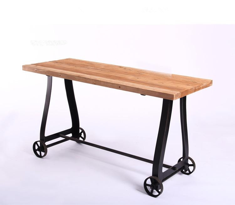 American Industrial Style Loft Iron Wood Furniture Side Tables Restaurant Entrance  Side Table Rectangular Table Movable In Dining Tables From Furniture On ...