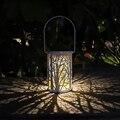 Походный фонарь лампа подвесная в ретро стиле солнечный металлический фонарь наружная водонепроницаемая лампа солнечного света декоры дл...
