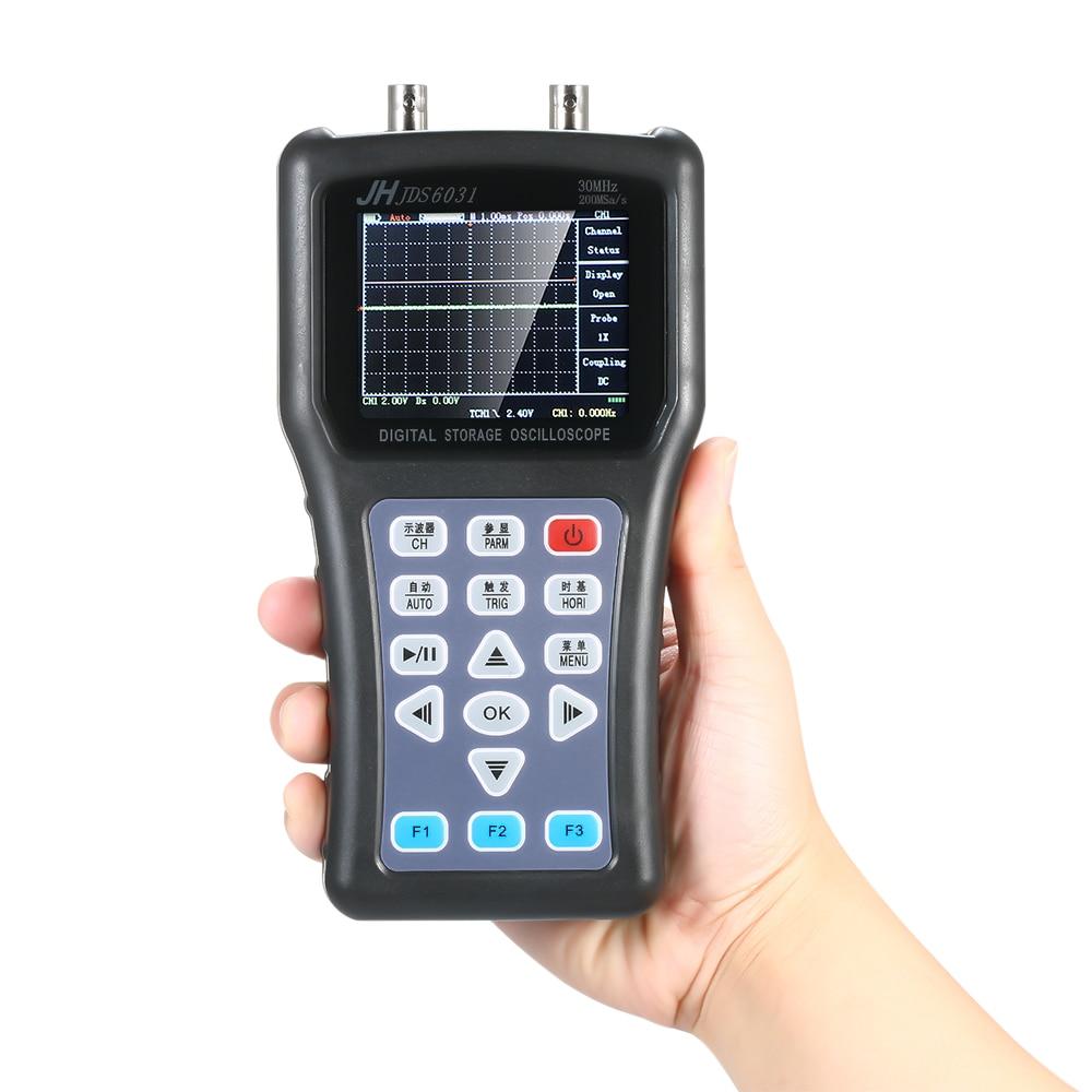 Handheld Digital Oscilloscope 1CH Portable Scope Meter Storage 30MHz 200MSa/s Probe Cable Set