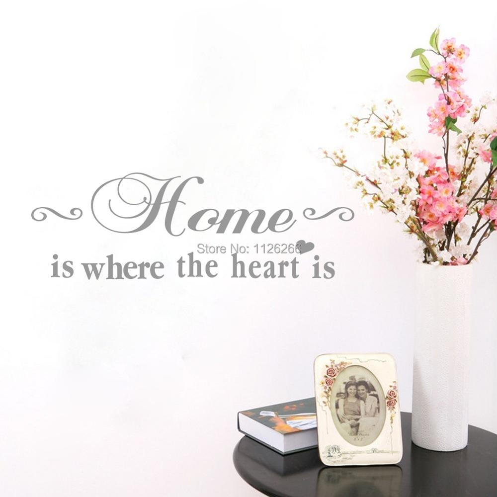 Home Is Where The Heart Is Quote: Aliexpress.com : Buy Home Is Where The Heart Is Vinyl Wall