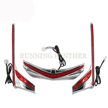 For Honda GL1800 F6B 2012-2016 Chrome LED Motorcycle Rear Light Vertical Strip Moto Fender Brake Tail Light Signal Case
