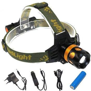 Фонарь головной свет 2 в 1 многоцелевой фонарик T6 сильный головной свет Светодиодная Шахтерская лампа рыболовная лампа