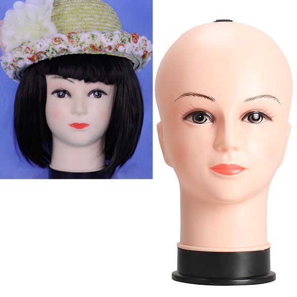 Real Female Mannequin Head Model Wig Hat Jewelry Display Cosmetology Manikin ...