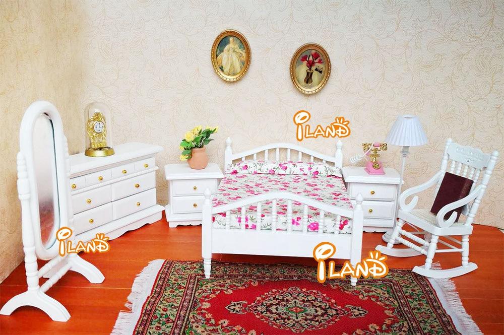 Miniatuur Design Meubels : Poppenhuis miniatuur meubels witte mode slaapkamer set stks