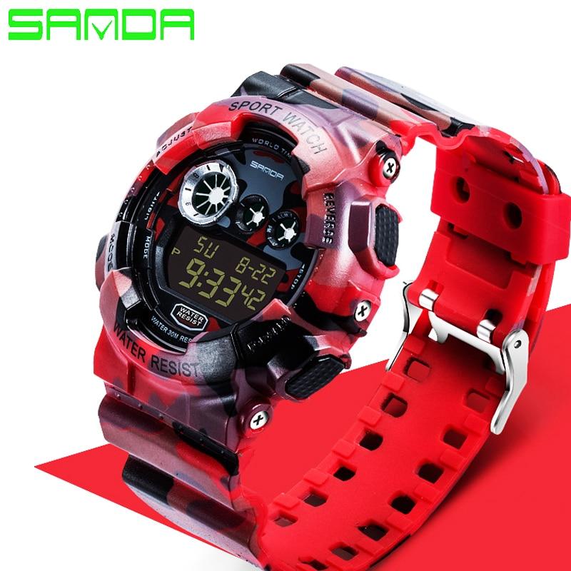 2017 Sanda Fashion Casual Watch Men Military G Style Watches Luxury Sports Digital Watch Waterproof Silicone