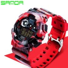 2017 Sanda Fashion Casual Watch Men Military Watches Luxury Sports Digital Watch Waterproof Silicone Watches