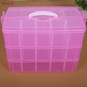 Image 4 - Free shipping 3 layers 30 grid removable storage box in a covered storage box king tights toy Lego plastic storage box