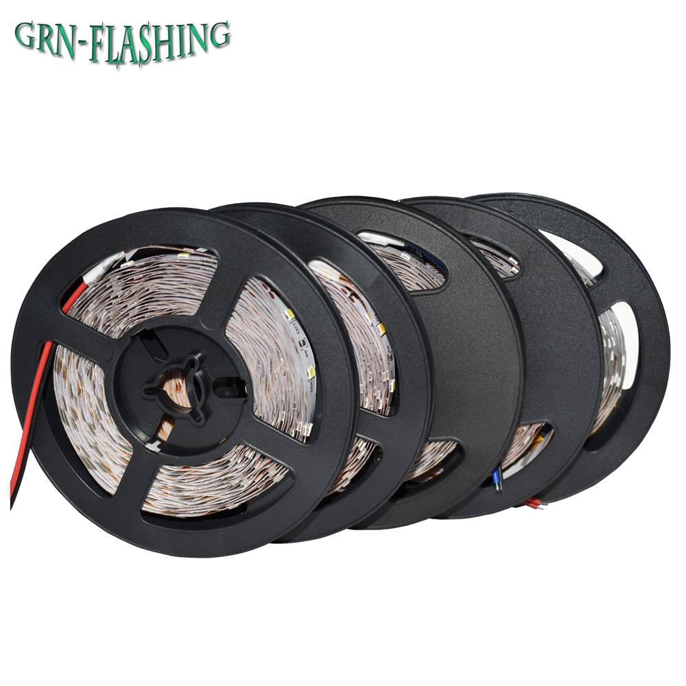 DC12V 3528 LED páska Nepromokavá LED Flexibilní RGB / teplá bílá / bílá / modrá pás 60LEDs / m 5m / lot Light RGB 3528 LED světlo