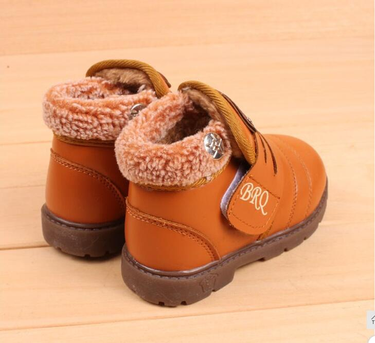 New-Style-Kids-Boots-Boys-Girls-Boots-Children-Autumn-Winter-Shoes-Warm-Fur-Snow-Martin-Boots-Fashion-Thicken-Cow-Muscle-Boots-3