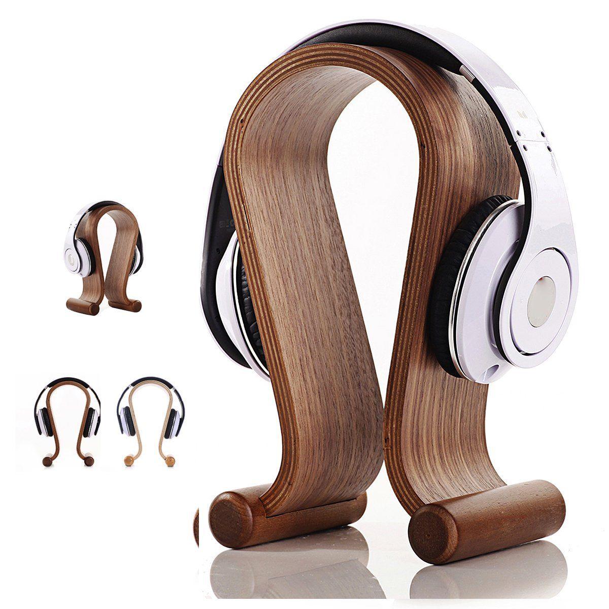 Samdi Wooden Gaming Headphone Stand Holder Earphone Hanger Headset Display Rack