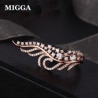 Trendy Kubikzircon Kristall Engel Flügel Luxus Ring für Frauen Damen Rose Gold Farbe Großen Ring Bague Schmuck