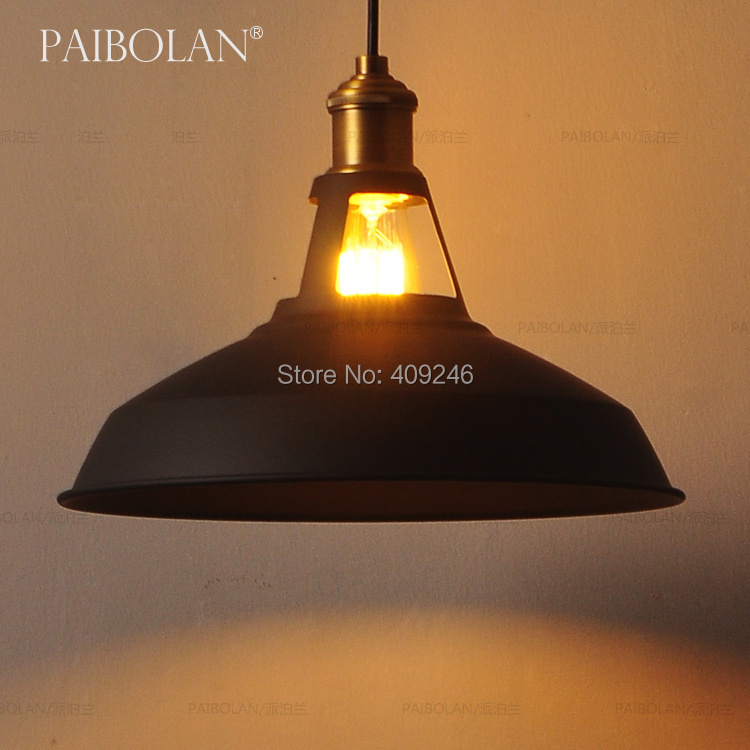 ФОТО LOFT Edison Industrial Barn Mini Metal Pendant Light  Vintage Edison Retro Bulb E27